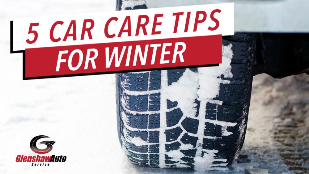 car tire with snow